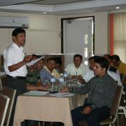 Group exercises at the training workshops in Nepal - August 2014