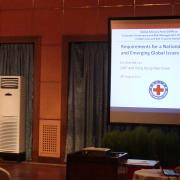 Dr Kit Lin (GAP) presenting at the development forum in Nepal - August 2014